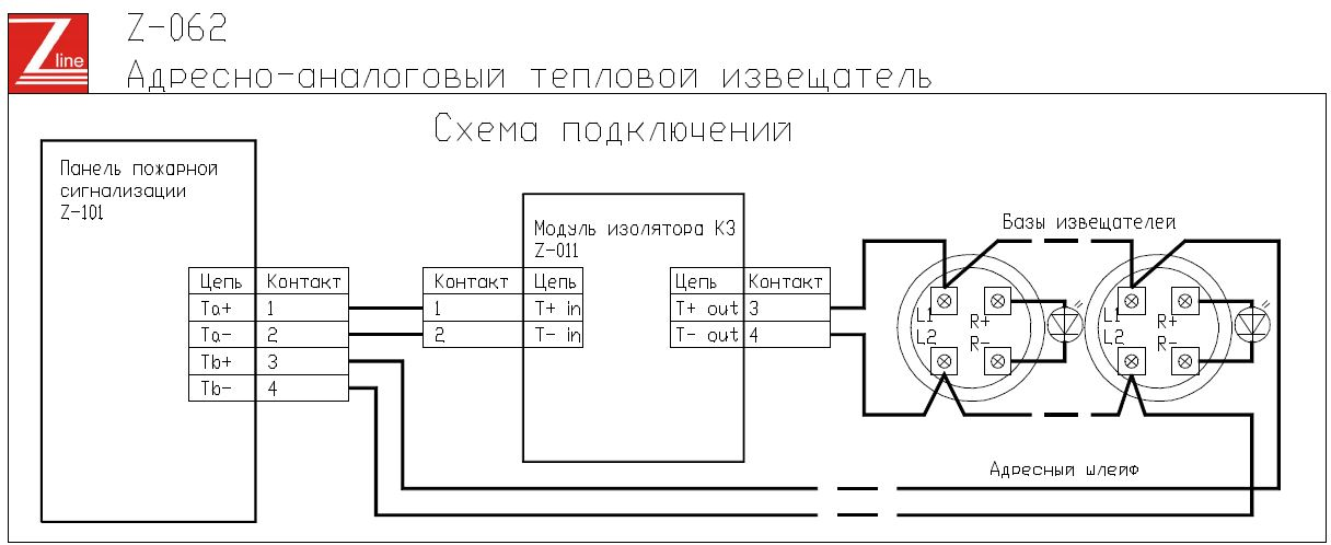 Схема теплового адресного
